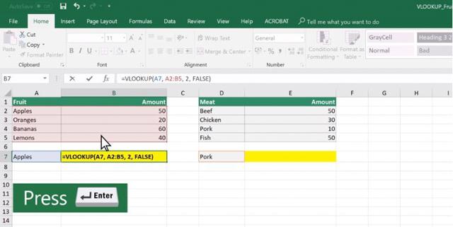 Ấn enter để bảng hiển thị kết quả