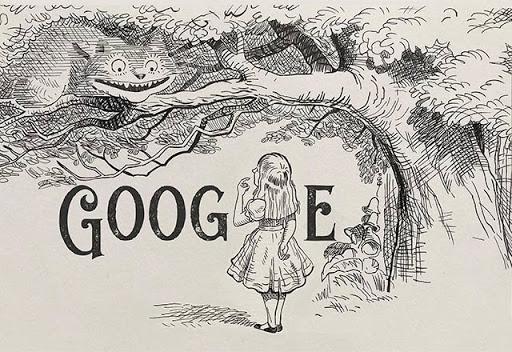 Bức tranh mà Google sử dụng để vinh danh hiệp sĩ John Tenniel