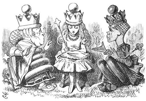 Một trong những bức tranh minh hoạ cho Alice In Wonderland
